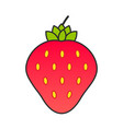 summer fruit collection fruits strawberry vector image