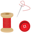 Tailor set red vector image