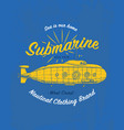 tee print marine ship or sea submarine transport vector image