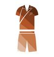 tennis man uniform icon vector image vector image