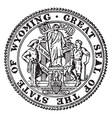 the great seal of the state of wyoming vintage vector image