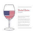 Top wine producing countries vector image