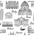 travel europe background italy famous landmark vector image