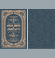 vintage wedding invitation layout vector image vector image