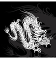 white chinese dragon vector image vector image