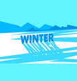 winter flat landscape vector image