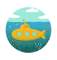 Yellow Submarine with Periscope vector image