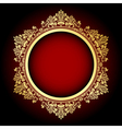 gold and red frame vector image