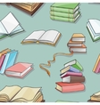 Books pattern isolated on blue background vector image