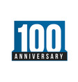 100th anniversary icon birthday logo vector image vector image