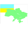 6214 ukrainian map and flag vector image vector image