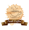 A fresh coffee label vector image vector image
