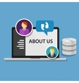 about us page concept icon data profile company vector image vector image