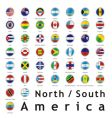 Americas round flags vector image