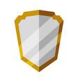 badge security emblem vector image vector image