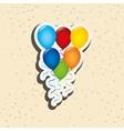 balloons party design vector image vector image