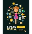 banking business logo design template vector image vector image