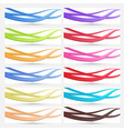 Banner in many colors - collection vector image vector image