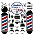 barber shop accessories set vector image