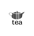 barcode tea concept vector image