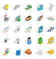 big trade icons set isometric style vector image vector image