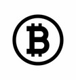 bitcoin sign icon for internet money vector image vector image