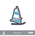 board windsurfing outline icon summer vacation vector image vector image
