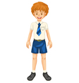 Boy in school dress vector image vector image