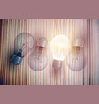 bulbs on table background vector image