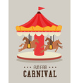 Carnival design over gray background vector image vector image