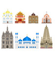 cathedral church temple traditional building vector image vector image