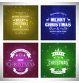 christmas card with glitters and pattern vector image