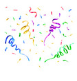 colors paper confetti birthday surprise party vector image