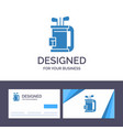 creative business card and logo template bag club vector image vector image