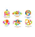 creative idea logo templates collection colorful vector image vector image