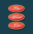 creative navigation board for computer game menu vector image vector image