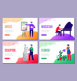 creative profession landing web pages business vector image