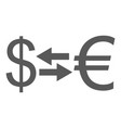 currency exchange icon simple vector image vector image
