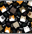 cute cats wallpaper vector image vector image