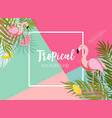 Cute summer abstract frame background with pink vector image