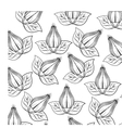 decorative flower pattern background vector image vector image