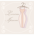 Dresses on hangers Invitation tamplate vector image vector image