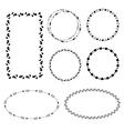 ethnic set hand drawn frames vector image vector image