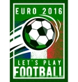 euro 2016 football championship background vector image