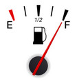 fuel gauge indication full tank vector image