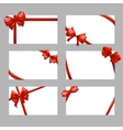 Gift cards with bows set vector image vector image