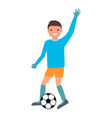 goalkeeper make pass icon flat style vector image vector image