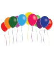 Group of multi colored balloons vector image vector image