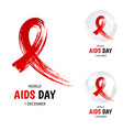 hand drawn red ribbon world aids day symbol vector image