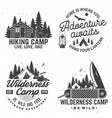 happy camper concept for shirt or logo vector image vector image